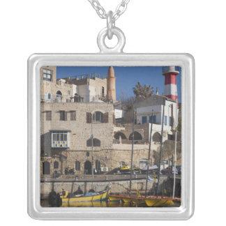 Israel, Tel Aviv, Jaffa, Jaffa Old Port Square Pendant Necklace