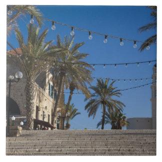 Israel, Tel Aviv, Jaffa, stairs, Old Jaffa Large Square Tile