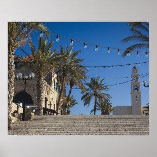 Israel, Tel Aviv, Jaffa, stairs, Old Jaffa Poster