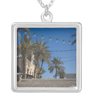 Israel, Tel Aviv, Jaffa, stairs, Old Jaffa Square Pendant Necklace