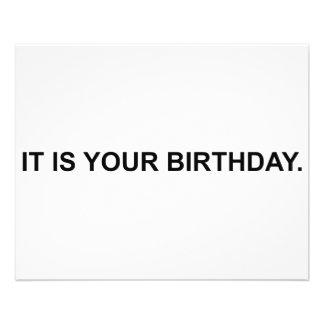 It Is Your Birthday 11.5 Cm X 14 Cm Flyer