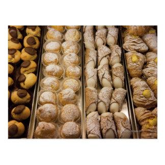 Italian pastries postcard