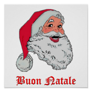 Italian Santa Poster