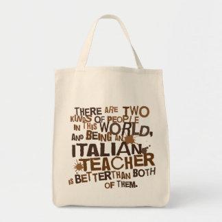 Italian Teacher Gift Grocery Tote Bag