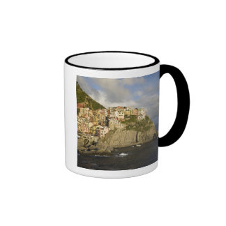 Italy, Cinque Terre, Manarola. Village on cliff. Ringer Mug