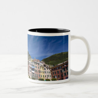 Italy, Cinque Terre, Vernazza, Harbor and Church 2 Two-Tone Mug