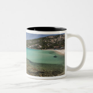 Italy, Sardinia, Baja Sardinia. Resort beach. Two-Tone Mug