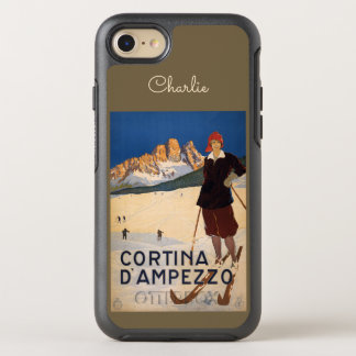 Italy Skiing name phone OtterBox Symmetry iPhone 7 Case
