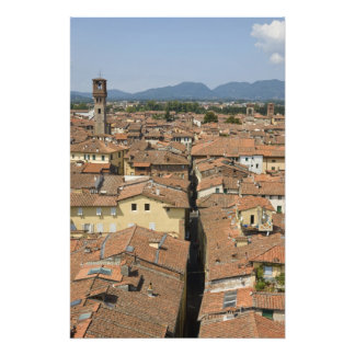 Italy, Tuscany, Lucca, View of the town and Photo