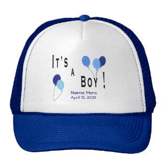 It's a Boy - Blue Balloons Cap