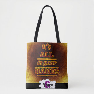 It's all in your hands vibrant monograms bag tote bag