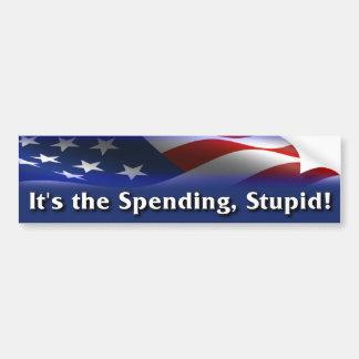 It's the spending, stupid! - Anti Obama Bumper Sticker