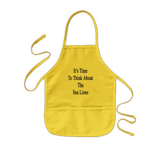It's Time to Think About The Sea Lions Kids Apron
