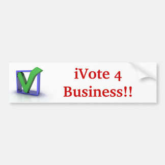 iVote 4 Business!! Bumper Sticker