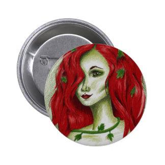 Ivy Nymph Sexy Redhead Woman Portrait Fantasy Art 6 Cm Round Badge