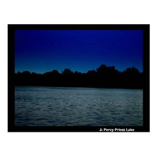 J. Percy Priest Lake at Night Postcard