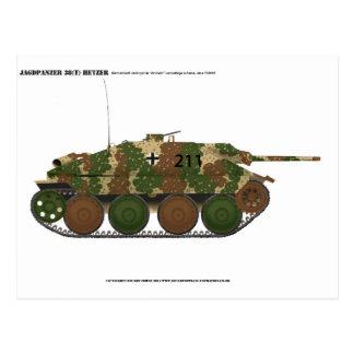 """Jagdpanzer 38(t) Hetzer in """"ambush"""" camouflage Postcard"""
