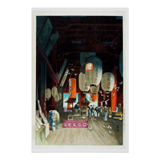 Japanese Lantern Shop Ukiyo–e Poster