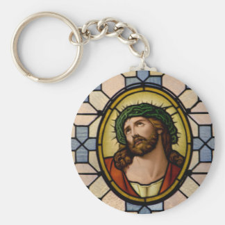 Jesus Basic Round Button Key Ring