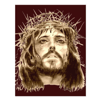 Jesus Christ with a Crown of Thorns 21.5 Cm X 28 Cm Flyer