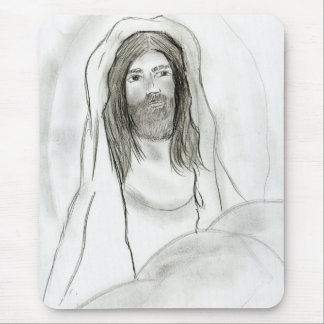 Jesus in Cave Mouse Pad