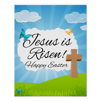 Jesus is Risen, Christian Easter Poster