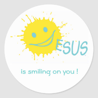 Jesus is smiling on you ! Sticker