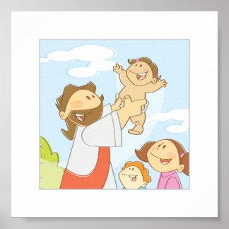 """Jesus Loves The Little Children - 6 x 6"""" Poster"""