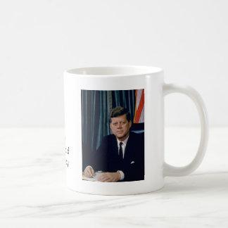 JFK official portrait from public domain Basic White Mug