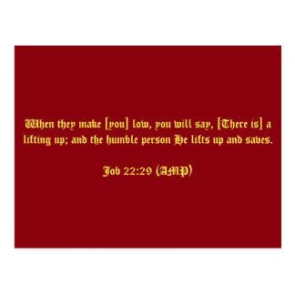 Job 22:29 (AMP) Postcard
