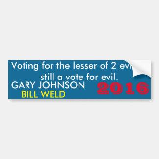 Johnson/Weld bumper sticker