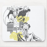 Joker and Batman Comic Collage Mouse Pad