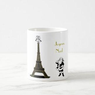 Joyeux Noel Eiffel Tower Paris Christmas Mug