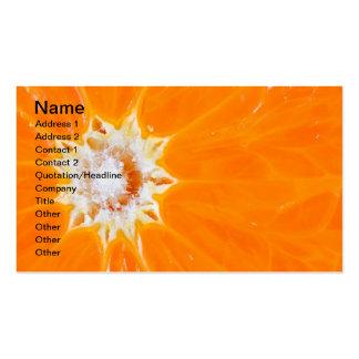 Juicy orange business card