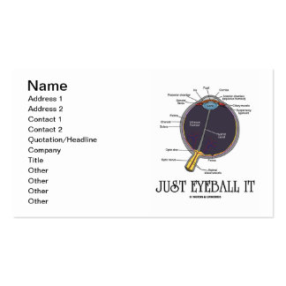 Just Eyeball It (Eye Anatomy Approximation Saying) Pack Of Standard Business Cards