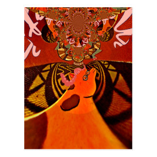 Just Funny Giraffe image design Postcard