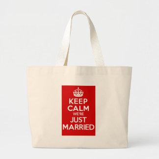 Just Married Red Jumbo Tote Bag