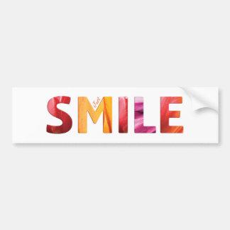 Just Smile Happy Quote 04 Bumper Sticker