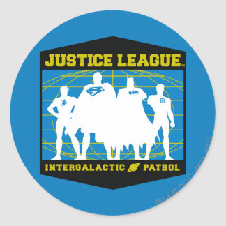 Justice League Intergalactic Patrol Round Sticker