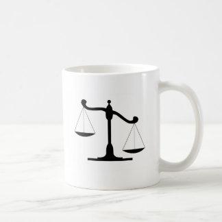 Justice Scale Basic White Mug