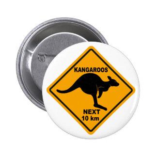 Kangaroos Next 10 km 6 Cm Round Badge