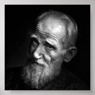 Karsh Photograph of George Bernard Shaw (1943) Poster
