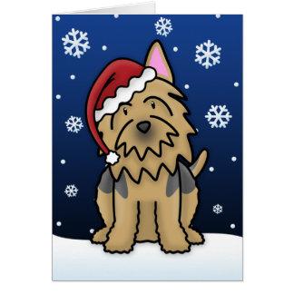 Kawaii Australian Terrier Christmas Card