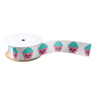 Kawaii Cupcake Ribbon Satin Ribbon