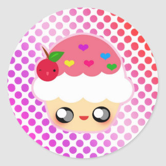 Kawaii Cupcake! Round Sticker