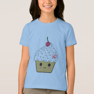 Kawaii Cupcake with Pink Sugar Skull and Cherry Tee Shirt