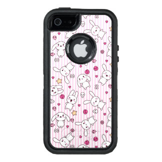 kawaii stripes pattern OtterBox iPhone 5/5s/SE case