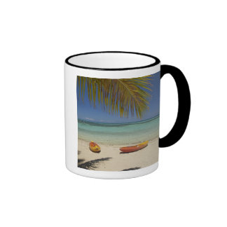 Kayaks on the beach, Plantation Island Resort 2 Ringer Mug
