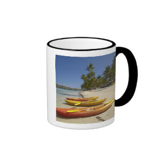 Kayaks on the beach, Plantation Island Resort Ringer Mug