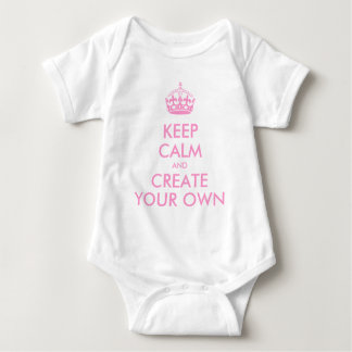 Keep Calm and Carry On Create Your Own | Pink Tshirt